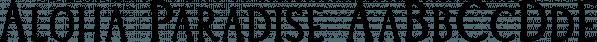 Aloha Paradise font family by Wilde Mae Studio