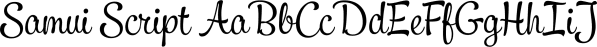 Samui Script font family by Schizotype Fonts
