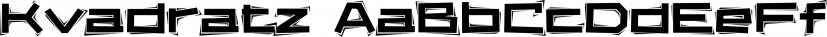 Kvadratz font family by ParaType