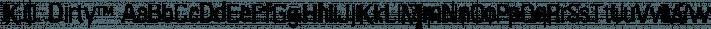 K.O. Dirty™ font family by MINDCANDY