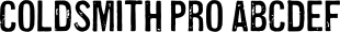 Coldsmith Pro font family mini