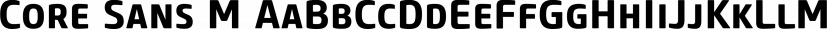Core Sans M font family by S-Core