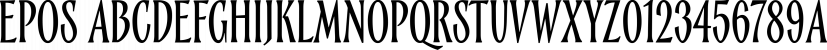 Epos font family by Serebryakov