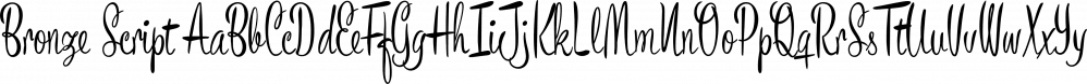 Bronze Script font family by Måns Grebäck