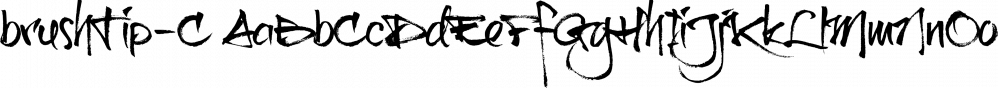 brushTip-C font family by JOEBOB Graphics