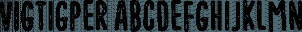 Vigtigper font family by Pizzadude.dk