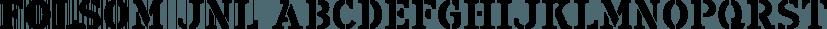 Folsom JNL font family by Jeff Levine Fonts