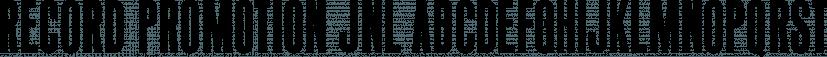 Record Promotion JNL font family by Jeff Levine Fonts