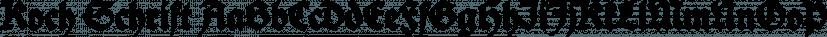 Koch Schrift font family by ingoFonts