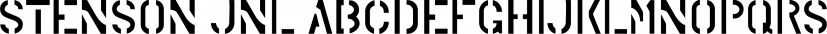 Stenson JNL font family by Jeff Levine Fonts