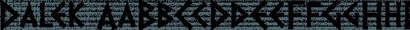 Dalek font family by K-Type