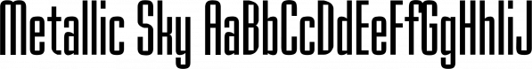 Metallic Sky font family by SoftMaker
