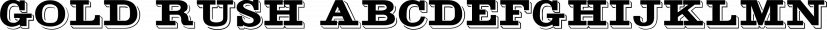 Gold Rush font family by FontSite Inc.