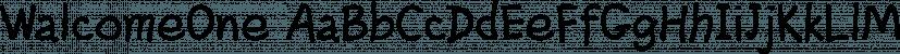 WalcomeOne font family by Ingrimayne Type