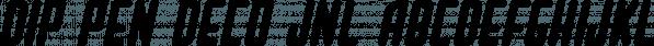 Dip Pen Deco JNL font family by Jeff Levine Fonts