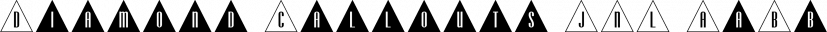 Diamond Callouts JNL font family by Jeff Levine Fonts