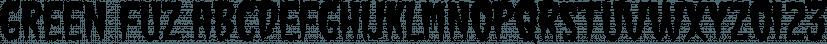 Green Fuz font family by Typodermic Fonts Inc.