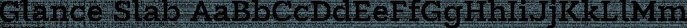 Glance Slab font family by Moritz Kleinsorge