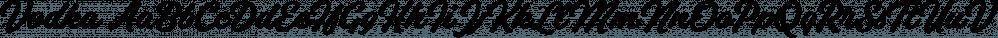 Vodka font family by Fenotype