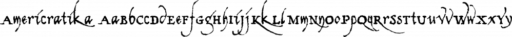 Americratika font family by Fonthead Design