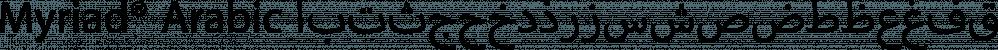 Myriad® Arabic font family by Adobe
