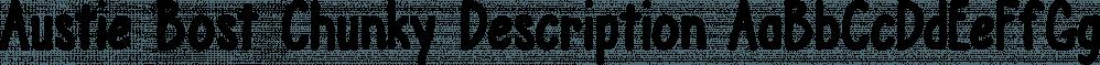 Austie Bost Chunky Description font family by Austie Bost Fonts