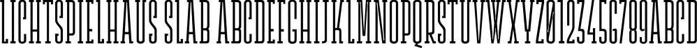 Lichtspielhaus Slab font family by Typocalypse