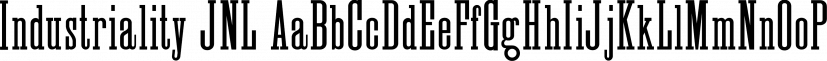 Industriality JNL font family by Jeff Levine Fonts