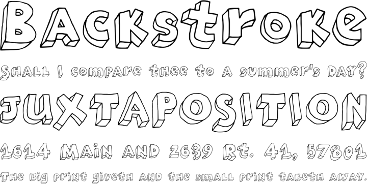 Brubecks Cube Font Phrases
