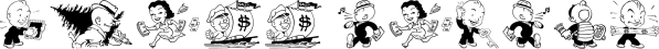 Shinn Kickers JNL font family by Jeff Levine Fonts