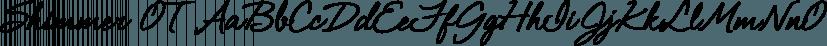 Shimmer OT font family by Jess Latham