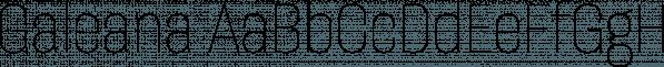 Galeana font family by Latinotype