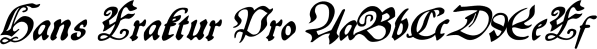 Hans Fraktur Pro font family by SoftMaker