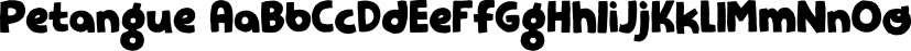 Petangue font family by Pizzadude.dk