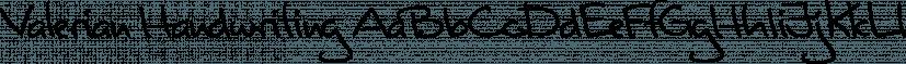 Valerian Handwriting font family by SoftMaker