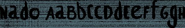 Nado font family by Konstantina Louka