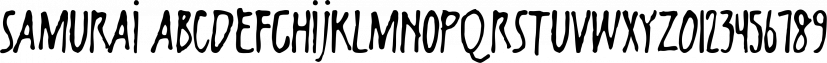 Samurai font family by Fonthead Design