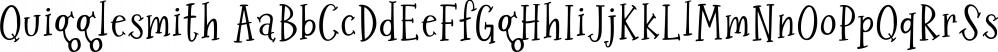Quigglesmith font family by Comicraft