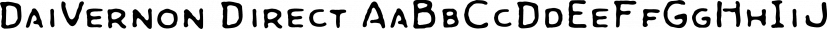 DaiVernon Direct font family by E-phemera Fonts