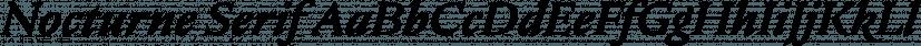 Nocturne Serif font family by BORUTTA