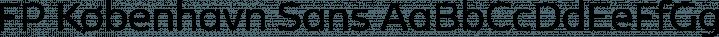FP København Sans font family by Fontpartners