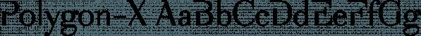Polygon-X font family by Wiescher-Design