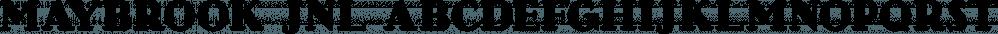 Maybrook JNL font family by Jeff Levine Fonts