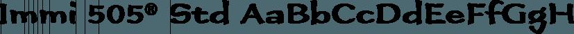 Immi 505® Std font family by Adobe