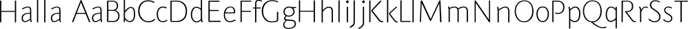 Halla font family by Wilton Foundry