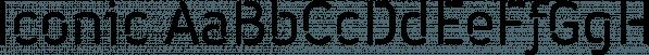 Iconic font family by Zetafonts
