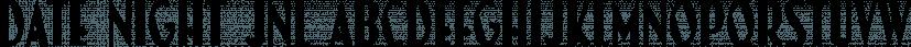 Date Night JNL font family by Jeff Levine Fonts