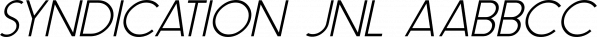 Syndication JNL font family by Jeff Levine Fonts