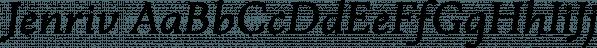 Jenriv font family by Linh N Type