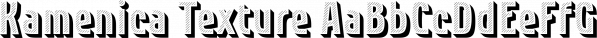 Kamenica Texture font family by Tour de Force Font Foundry